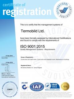 Certificate ISO 9001-2015 - JAS-ANZ Termobild 2016-2019-page-001