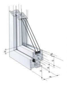 Прозорци от Euro-Design 86 Plus